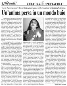 """2010 Maggio - Recensione Nero Fluorescente su """"l'Avanti""""_sito"""